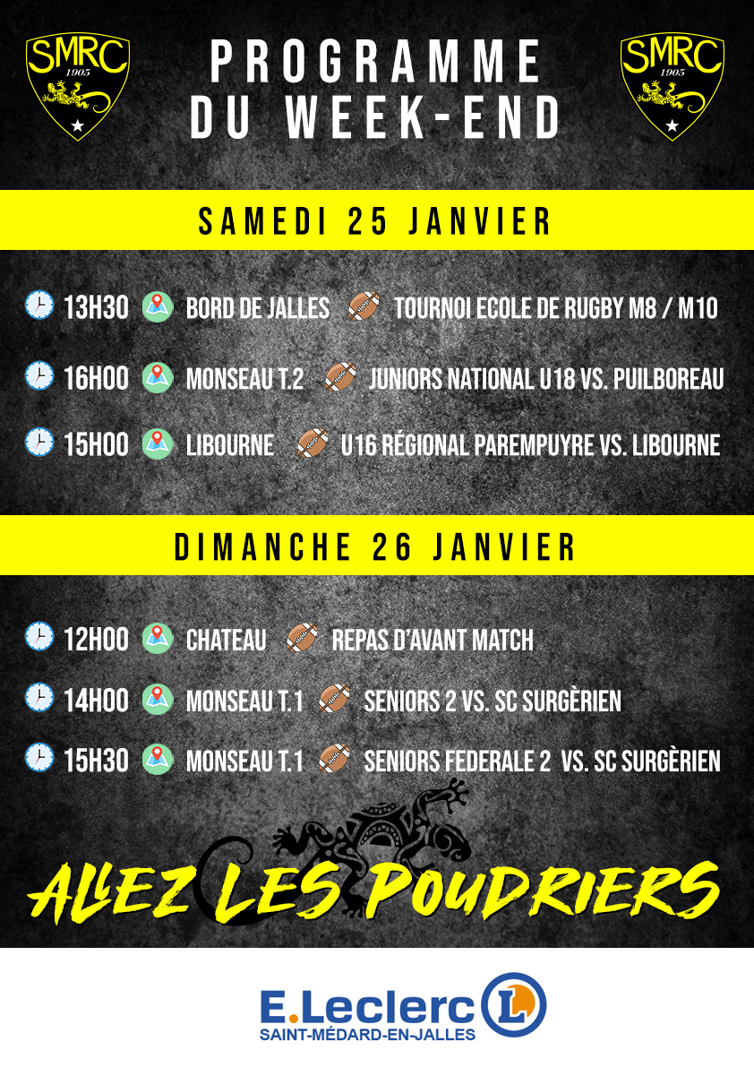 Programme du Week-end SMRC